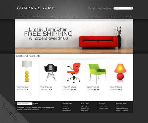 free volusion templates aura ecommerce templates by volusion seo friendly free