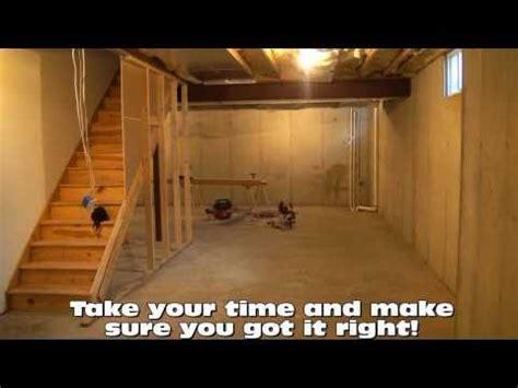 framing layout tips d i y basement finishing