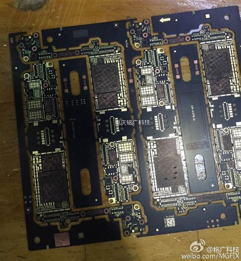leaked photos claim to show a working blue iphone 7 plus iphone 7 logic board redmond pie