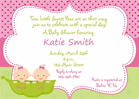 baby shower invitations templates for twins twins baby shower ideas free printable baby shower