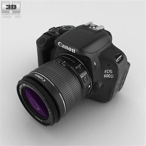 canon 3d canon eos 600d 3d model hum3d