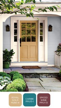 behr s spiced wine paint for the front door i love this looking for an exterior paint color that will last behr