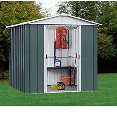 Yardmaster Apex Roof Metal Shed - yardmaster 6x6 metal garden shed 10 year guarantee apex