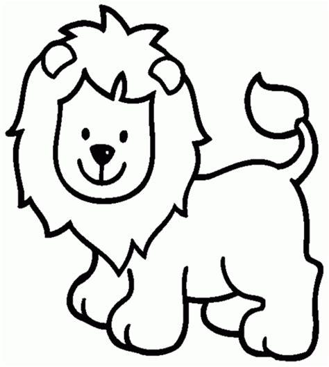 imagenes de leones infantiles para colorear dibujos para colorear de animales para ni 241 os leon