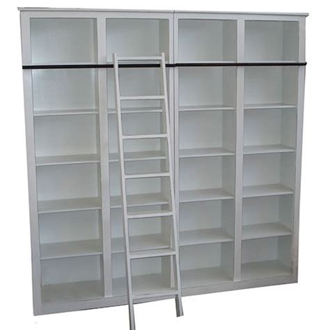 bookcase with rolling ladder home decor