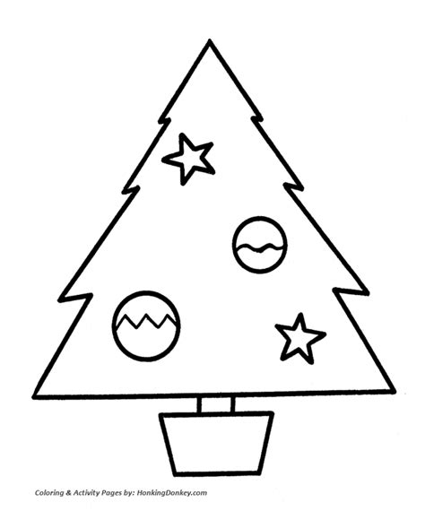 easy christmas coloring pages for toddlers christmas tree coloring pages simple christmas tree