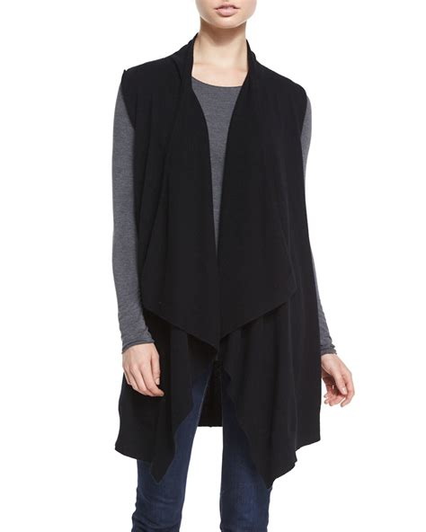 drape vest neiman marcus cashmere collection cashmere long draped