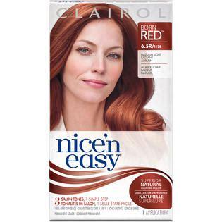 clairol nice n easy hair color 110 natural light auburn clairol clairol nice n easy permanent hair color 6 5r