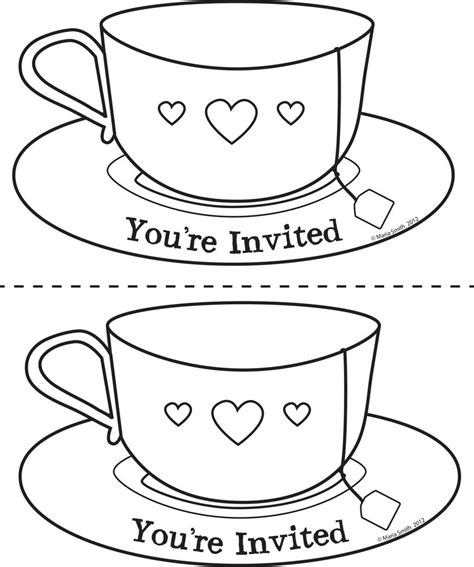 s day card tea cup template s day teacup invite 2 up by chat noir on deviantart