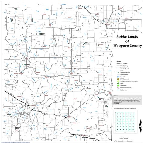 County Wi Property Records Lands Of Waupaca County Map Waupaca Wi Mappery