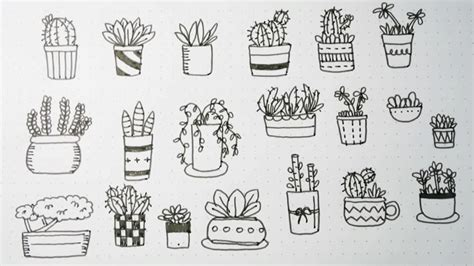 doodle with me potted plant doodles v 2 doodles by sarah