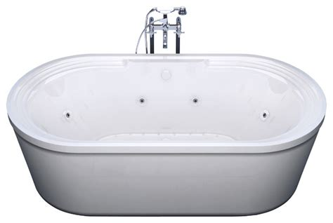 freestanding bathtub with jets venzi padre 34x67 oval freestanding air whirlpool water