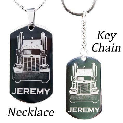 tag necklace chain personalized stainless steel my necklace or key