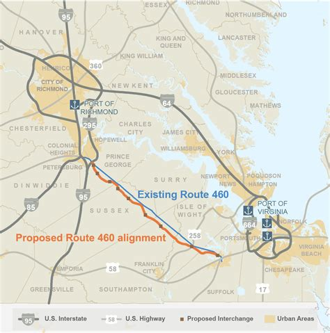 road construction map usa route 460 project in virginia biersdorf