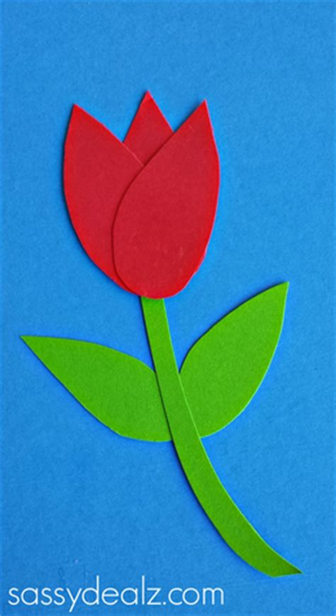 how to make paper tulips easy craft crafty morning