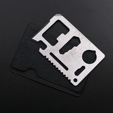 stainless steel multi tool card 11 in 1 stainless steel credit card wallet tool survival