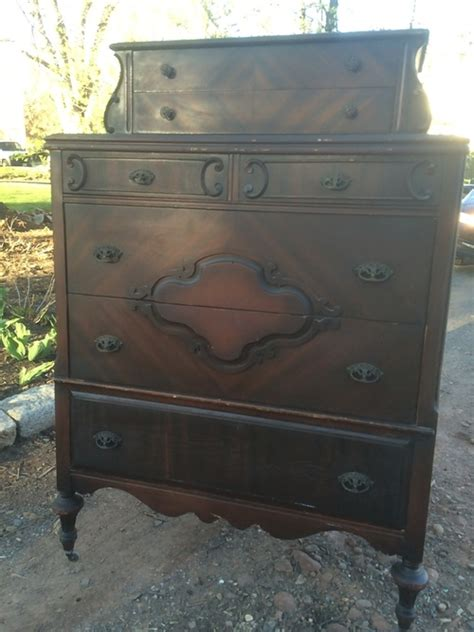 antique vanity ornate depression era furniture triple mirror antique depression era chest on chest 7 drawer dresser