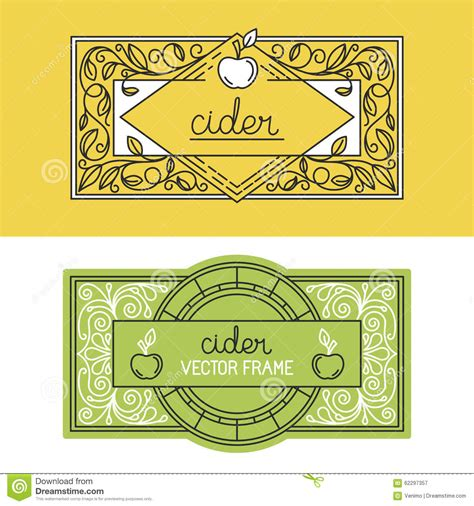 bottle label design templates vector set of packaging design templates stock vector