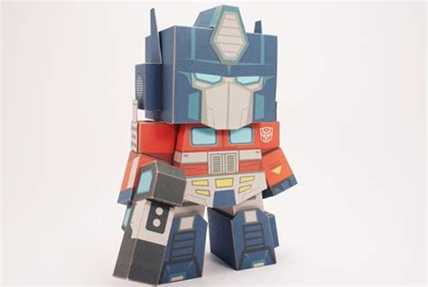 Papercraft Transformers Optimus Prime - transformers optimus prime free papercraft