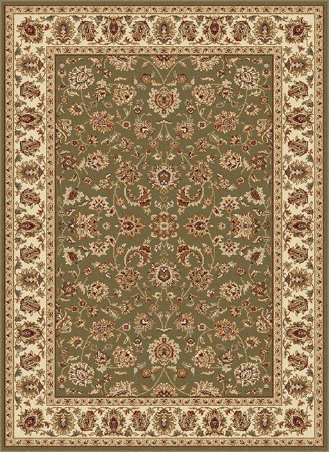 elegance 5375 green area rug by tayse