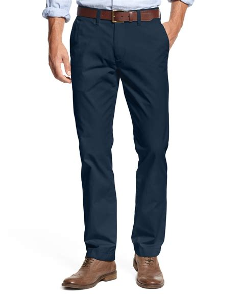 blue chino hilfiger s custom fit chino in blue for