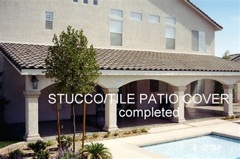 Stucco Patio Cover Designs Stucco Patio Cover Designs Stucco Trimmed Patio Cover Gallery Warburton S Inc Stucco Trimmed