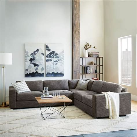 west elm sectional sofa 3 sectional west elm