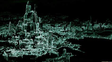 sci fi city full hd wallpaper  background image  id