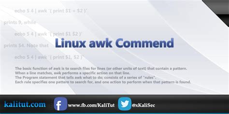 tutorial linux sort linux awk command kalitut tutorial
