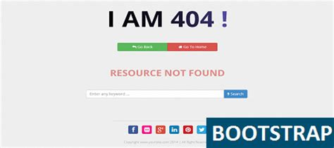 Bootstrap Awesome Error   Get It For Free