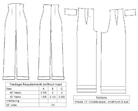 pattern templates from issue 40 sew hip 1940s empire waist trousers for classic katharine hepburn