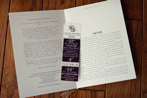 invitation design book best selection of book themed wedding invitations