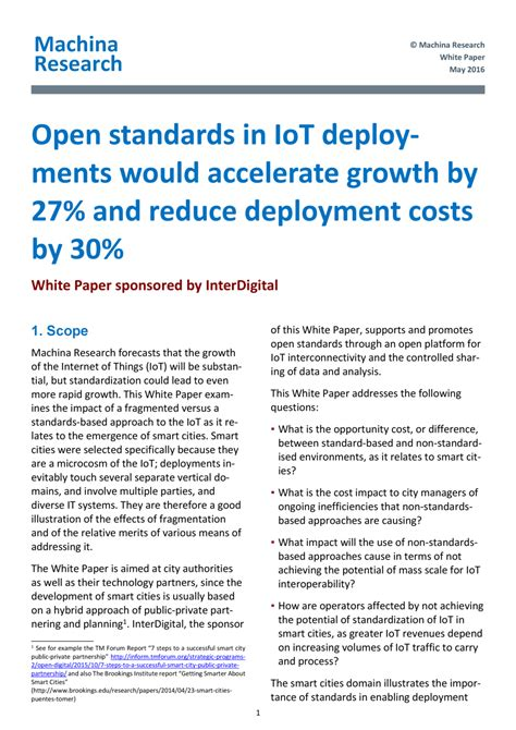 white paper in research open standards in iot deployments would accelerate growth