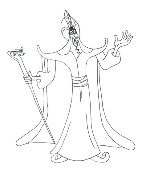 Disney Villain Coloring Coloring Pages Jafar Coloring Pages