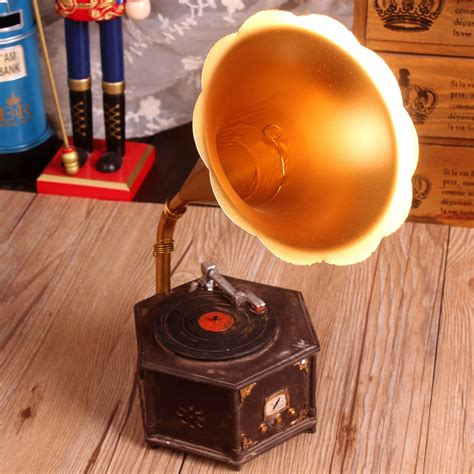 zakka home decor zakka shabby chic gramophone resin handicraft vintage home