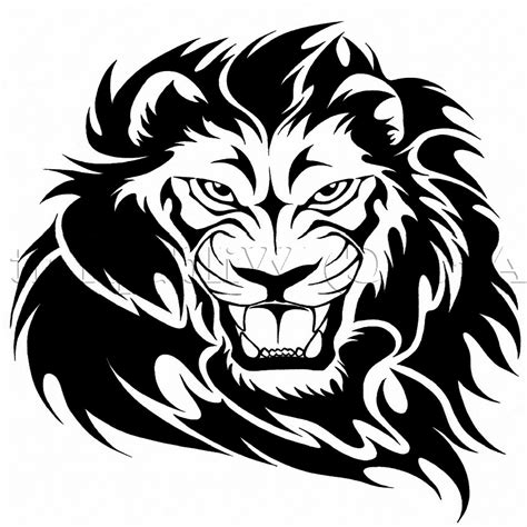 roaring lion tribal tattoo roaring vector clipart panda free clipart images