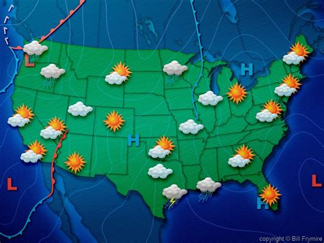 us weather on map weather map usa my