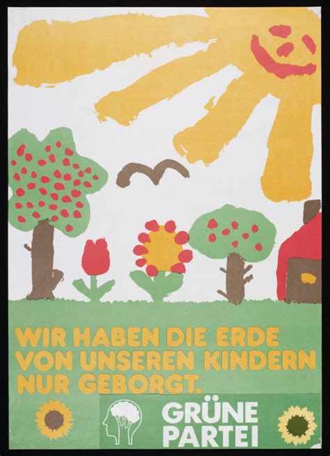 werkstatt poster we only borrowed the earth from our children grafik
