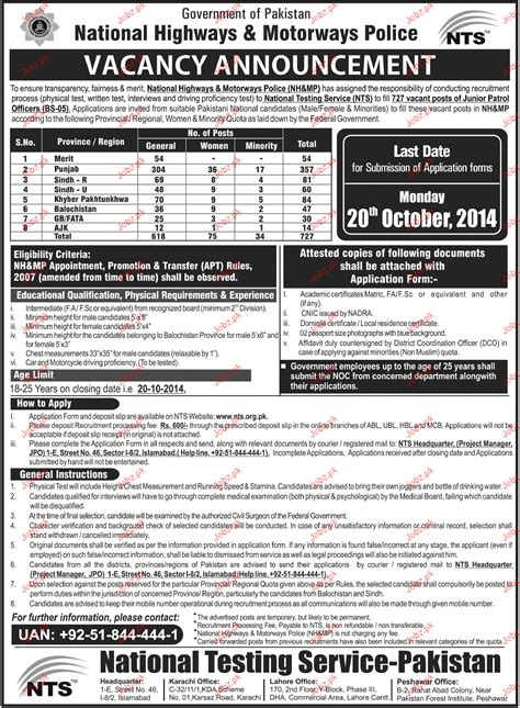 test pattern of junior national saving officer recruitment of junior petrol officers in pakistan motorway