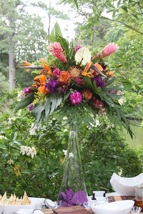 tropical centerpiece flowers tropical