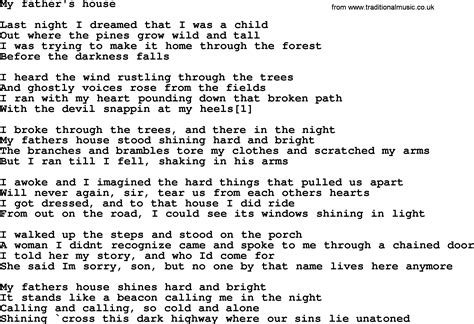 house music lyrics search bruce springsteen song my father s house lyrics