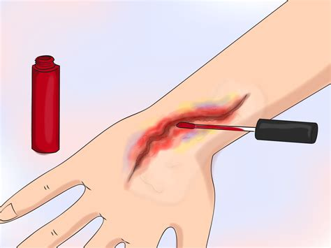 How To Make A Temporary With Regular Paper - 3 ways to make a wound wikihow