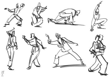 1 Minute Pose Sketches by Matt Jones Gesture Class