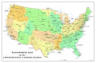 usa watershed wall map maps