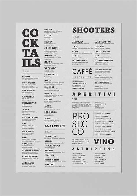 cocktail menu ideas 17 best ideas about drink menu on recipes