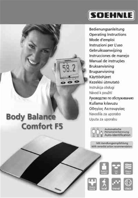 body comfort instructions soehnle 63687 body balance comfort f5 personal weighing