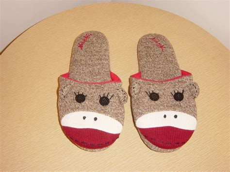 nick and nora monkey slippers nick and nora sock monkey slippers size large