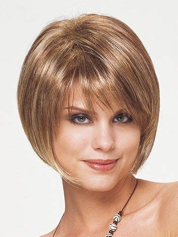 stack with a swoop bang hairstyles layered stacked bob with bangs layered bob with bangs