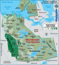 northwest territories canada map northwest territories canada large color map
