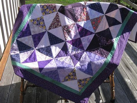 Purple Patchwork Quilt - purple patchwork quilt lovely lavendar quilt 63x45